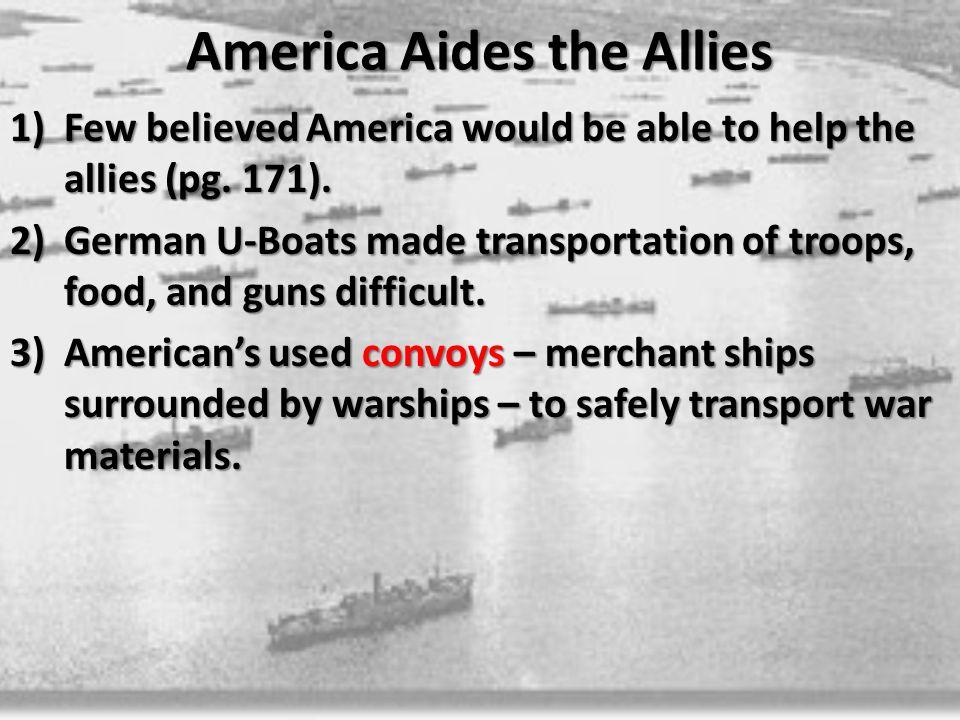 America Aides the Allies