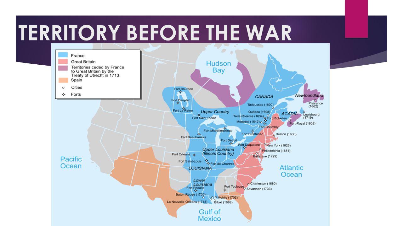 TERRITORY BEFORE THE WAR