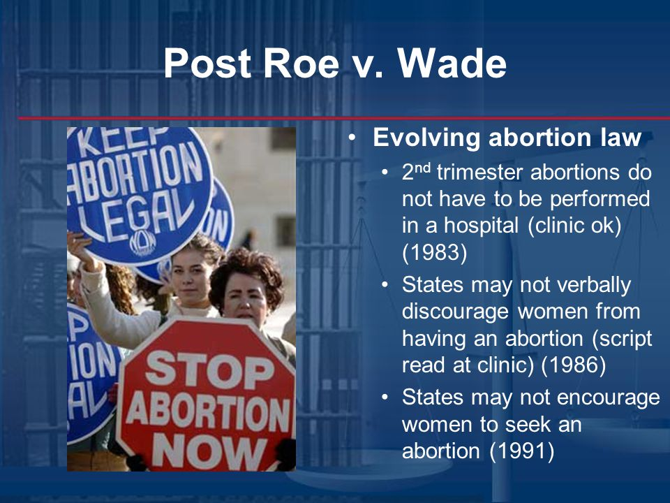 Post Roe v. Wade Evolving abortion law