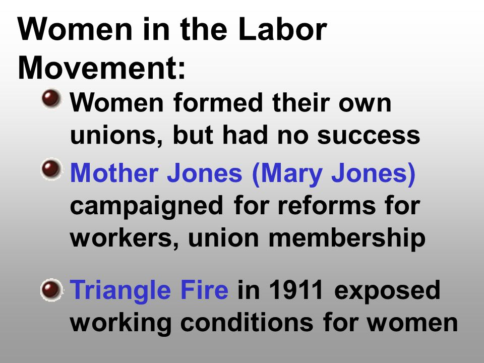 Women in the Labor Movement: