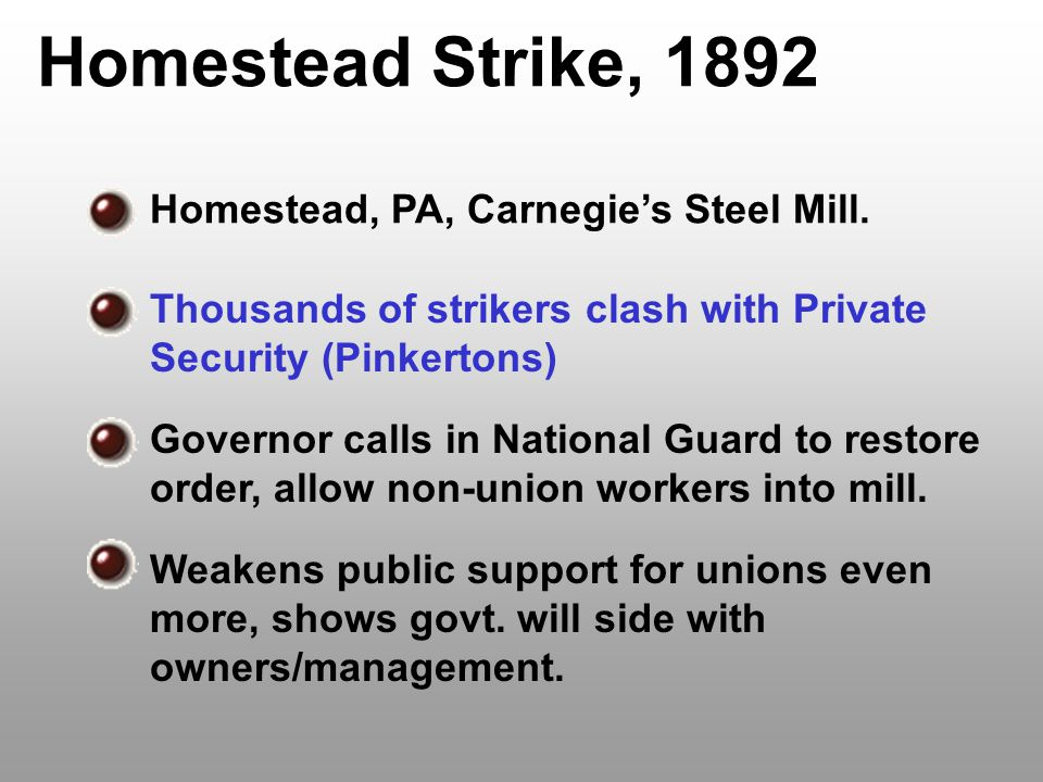 Homestead Strike, 1892 Homestead, PA, Carnegie's Steel Mill.