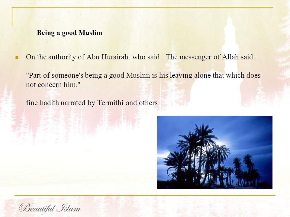 Being a good Muslim