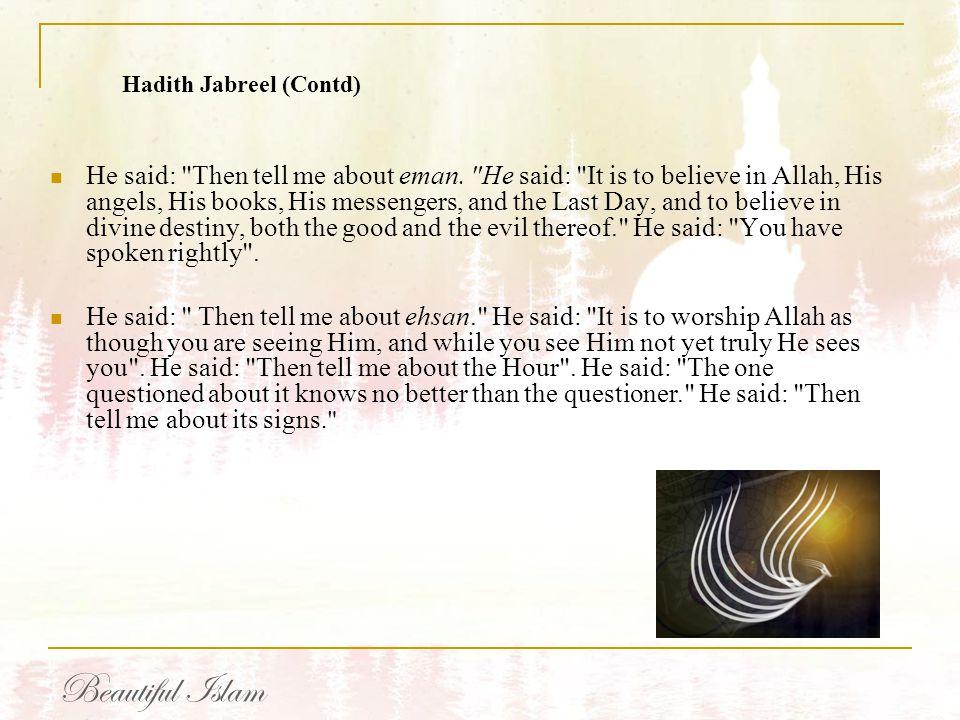 Hadith Jabreel (Contd)