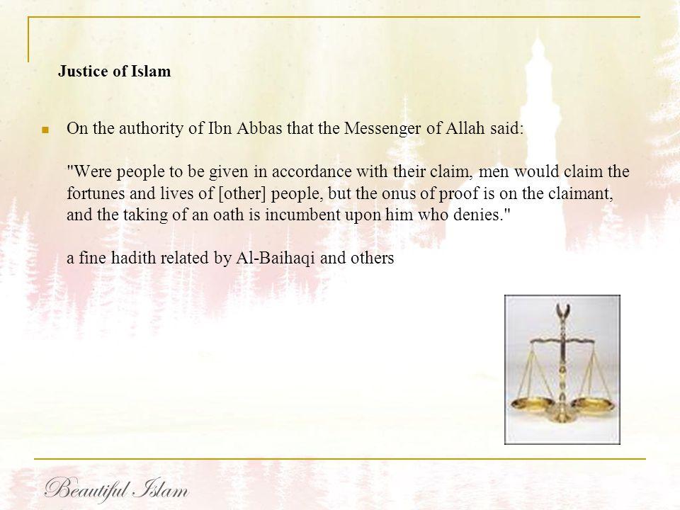 Justice of Islam