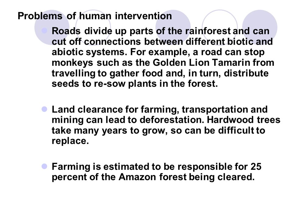 Problems of human intervention