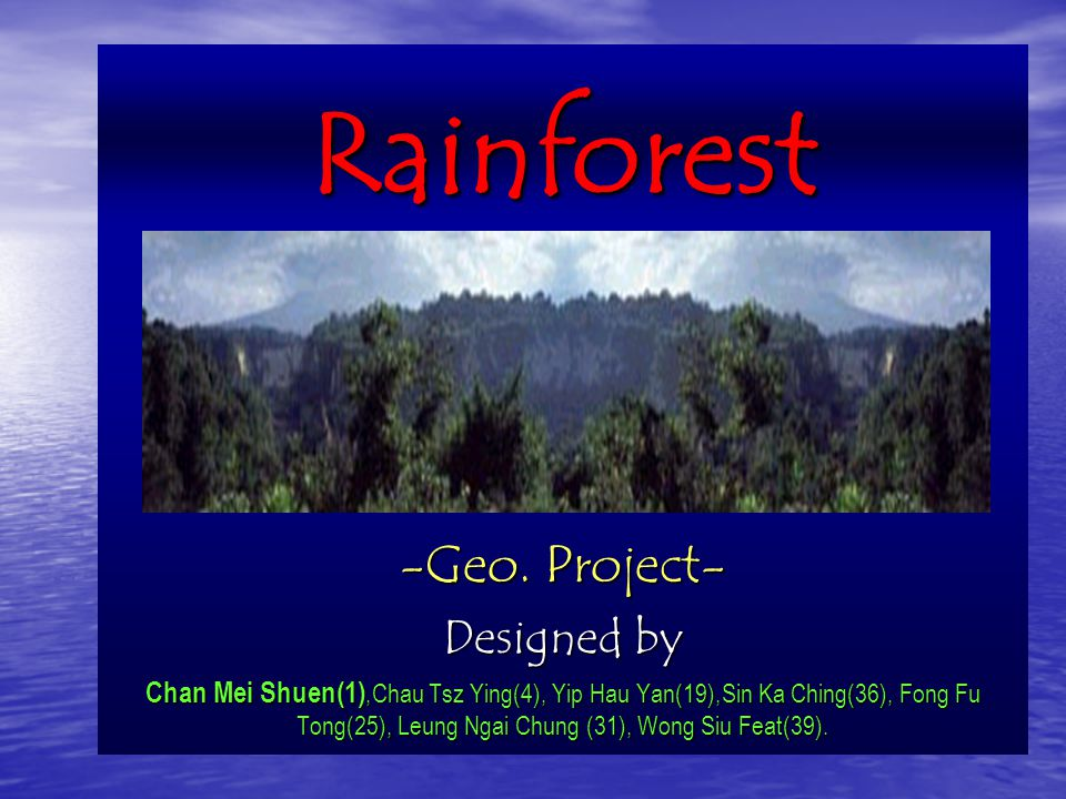 Rainforest -Geo. Project- Designed by