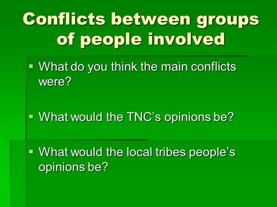 an analysis of the common conflicts between the groups of people Types and levels of conflicts experienced by  two or more groups attempt to reach a common  is common between nurses and physicians.