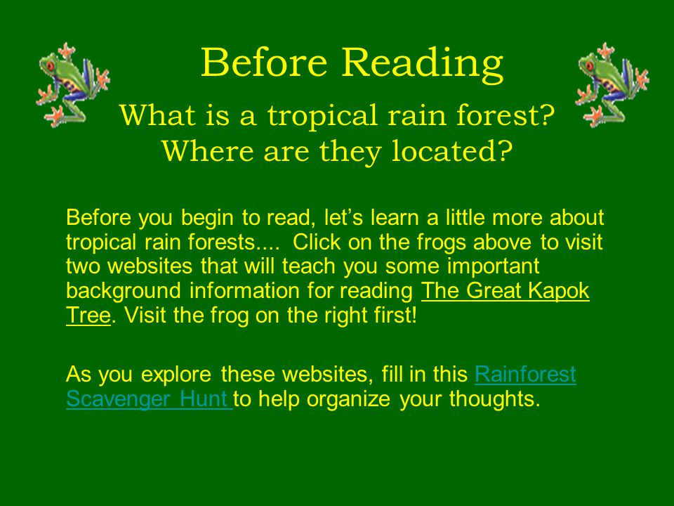 What is a tropical rain forest Where are they located