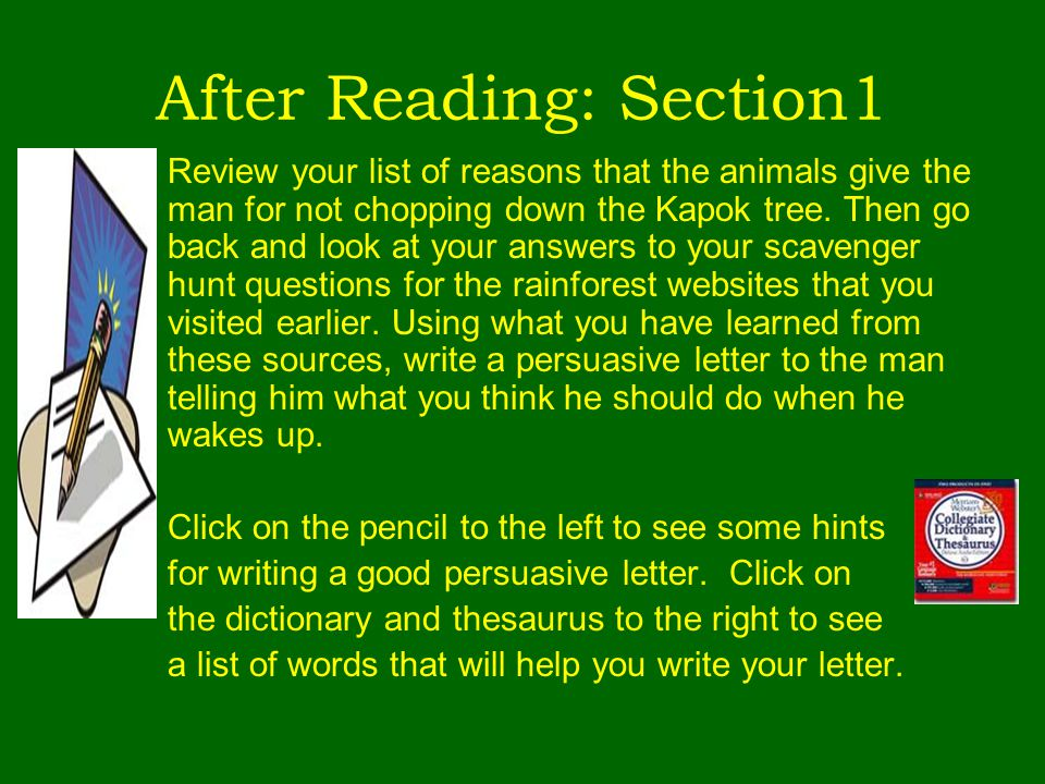After Reading: Section1