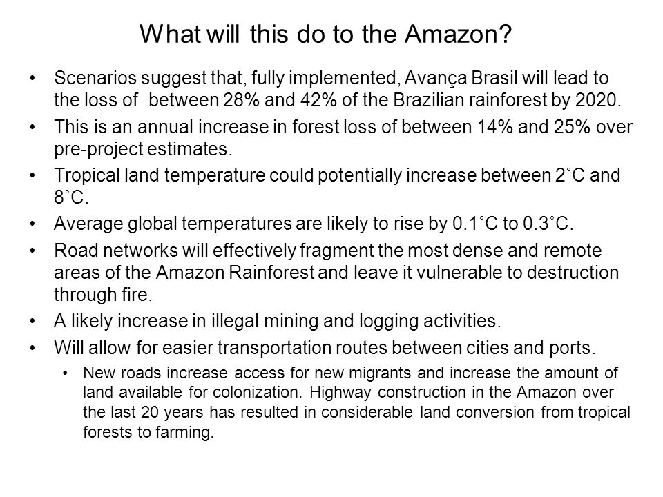 What will this do to the Amazon
