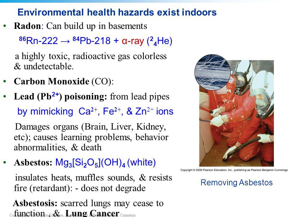 Environmental health hazards exist indoors
