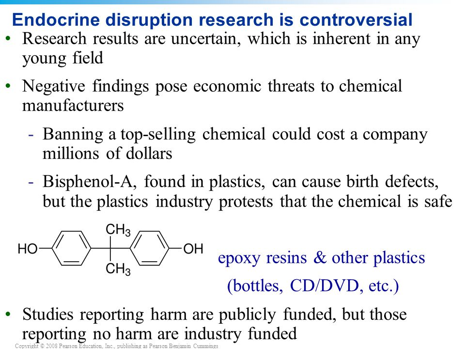 Endocrine disruption research is controversial