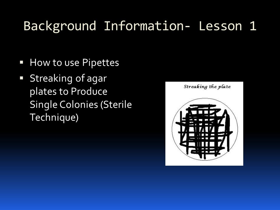 Background Information- Lesson 1
