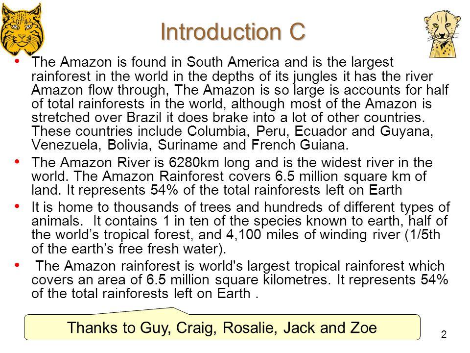 Thanks to Guy, Craig, Rosalie, Jack and Zoe