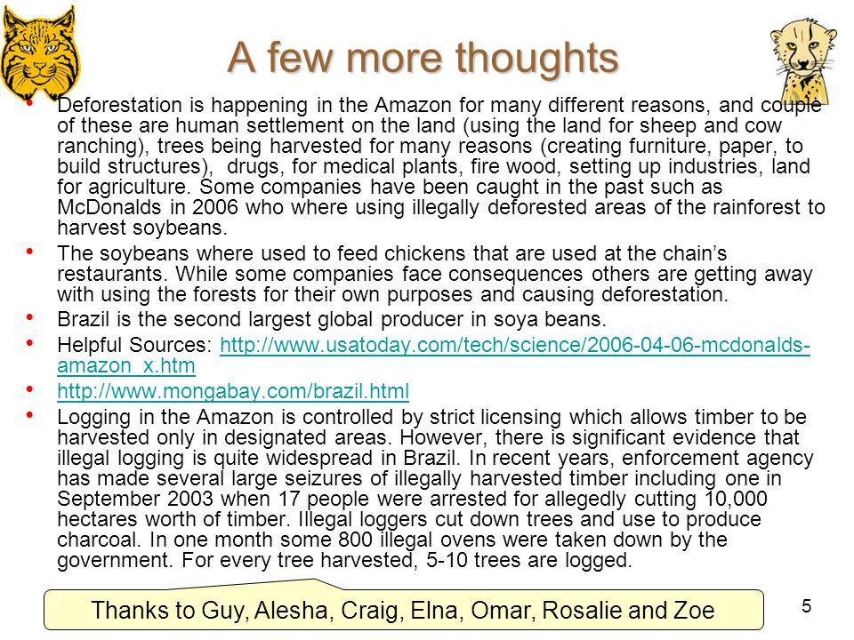 Thanks to Guy, Alesha, Craig, Elna, Omar, Rosalie and Zoe