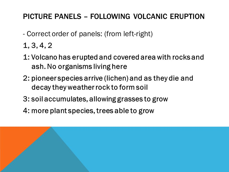Picture Panels – Following volcanic eruption