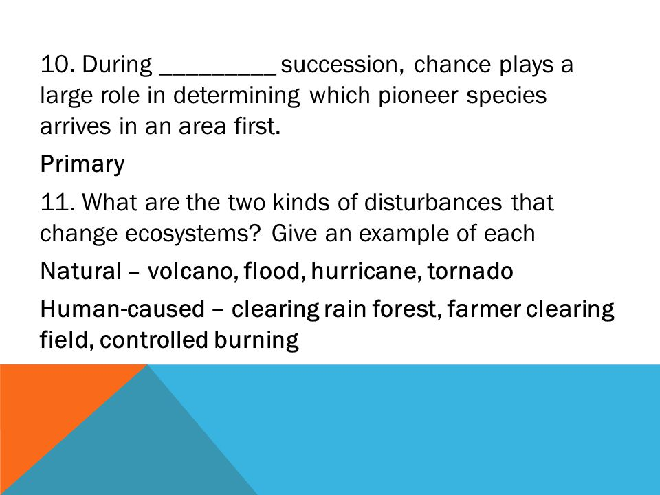 After A Natural Disaster Occurs In A Healthy Ecosystem