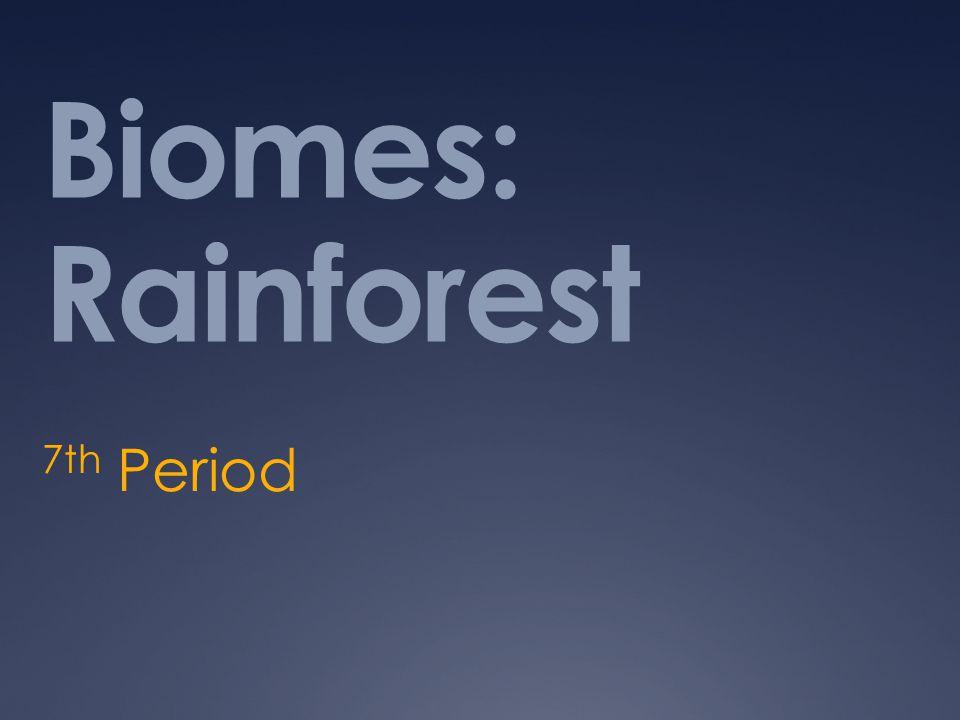 Biomes: Rainforest 7th Period