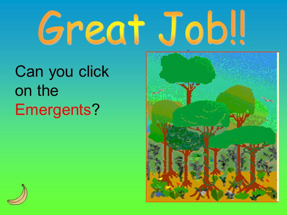 Great Job!! Can you click on the Emergents