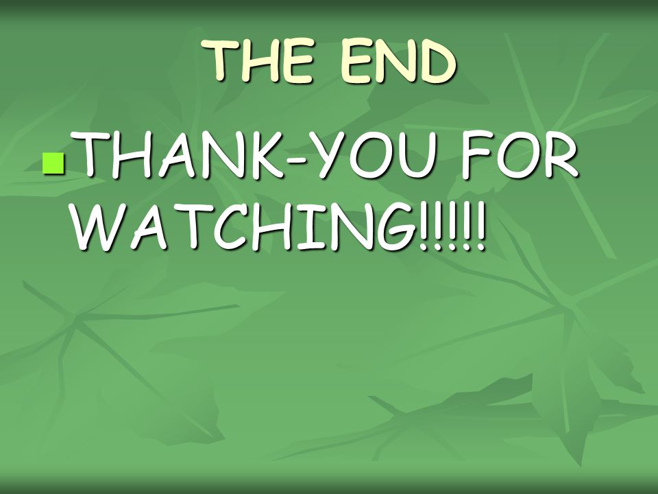 THANK-YOU FOR WATCHING!!!!!