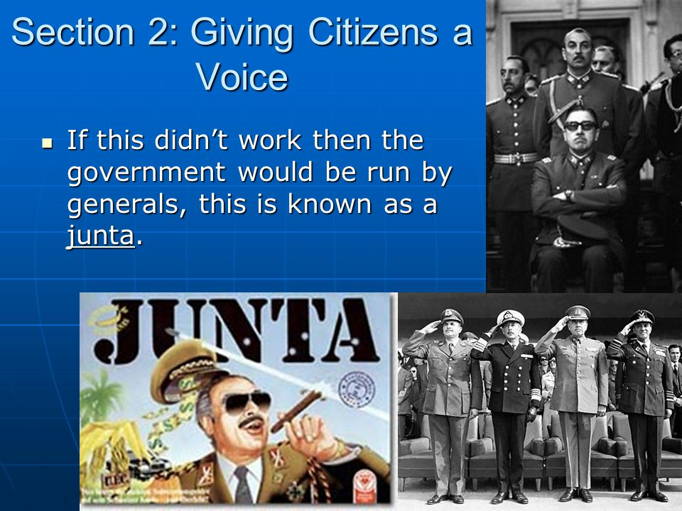 Section 2: Giving Citizens a Voice