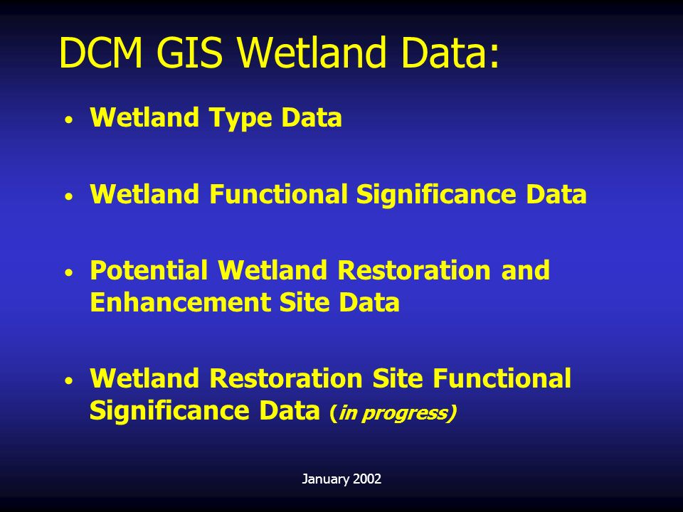 DCM GIS Wetland Data: Wetland Type Data