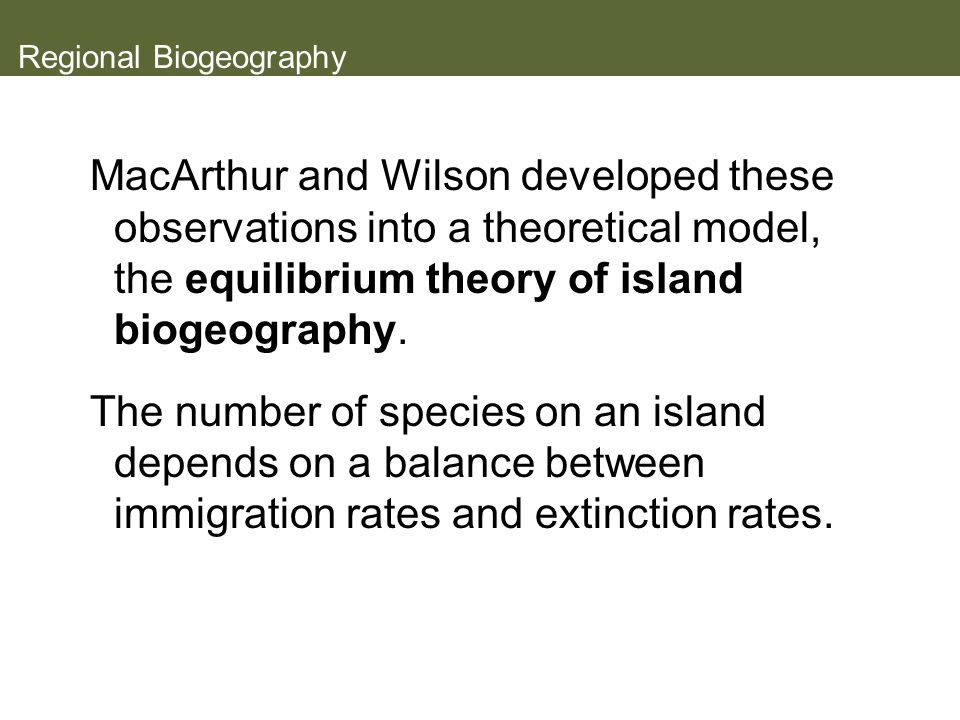 Regional Biogeography