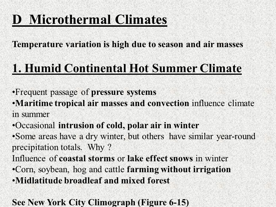 D Microthermal Climates