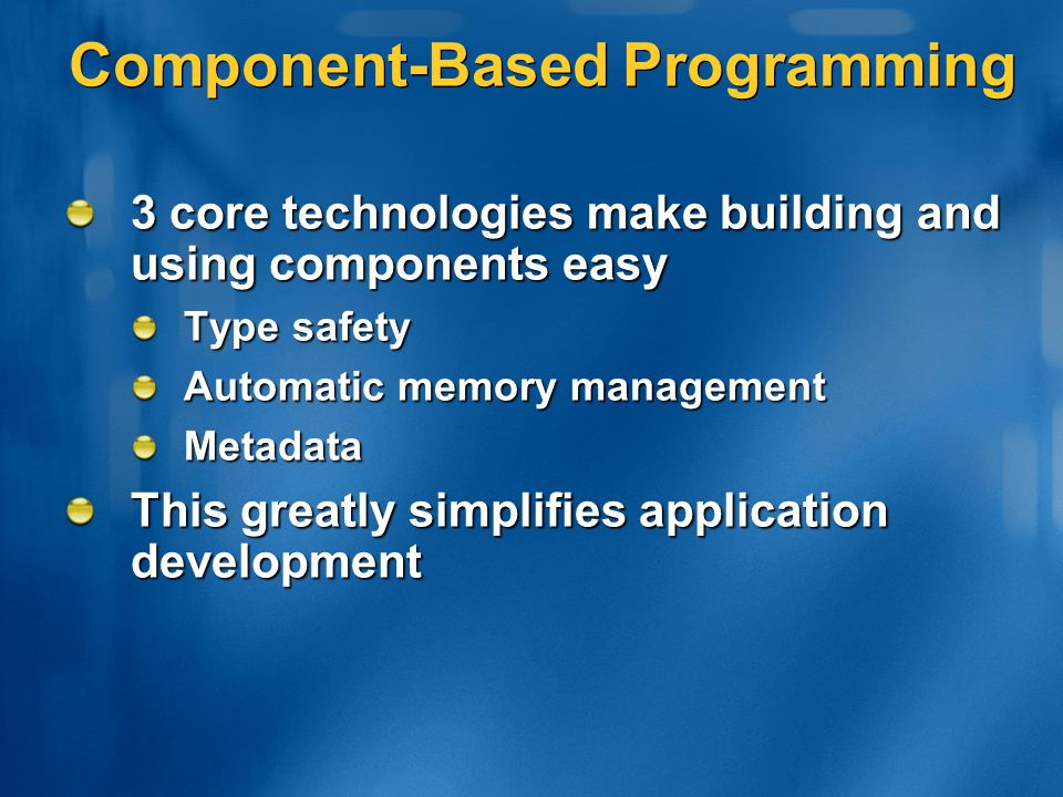 Component-Based Programming