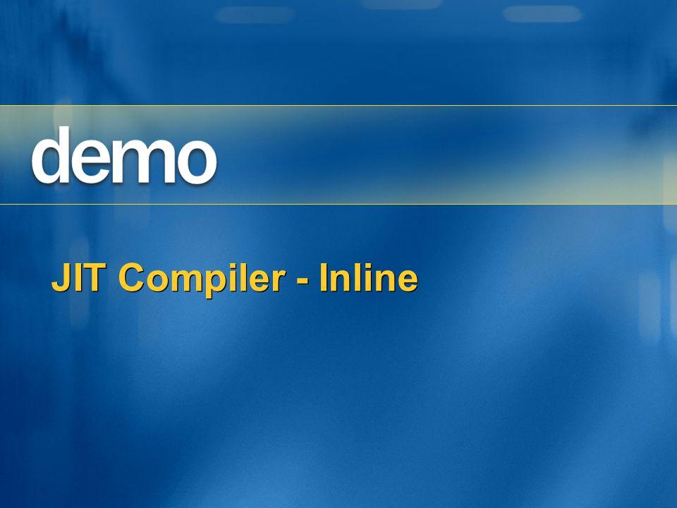 JIT Compiler - Inline