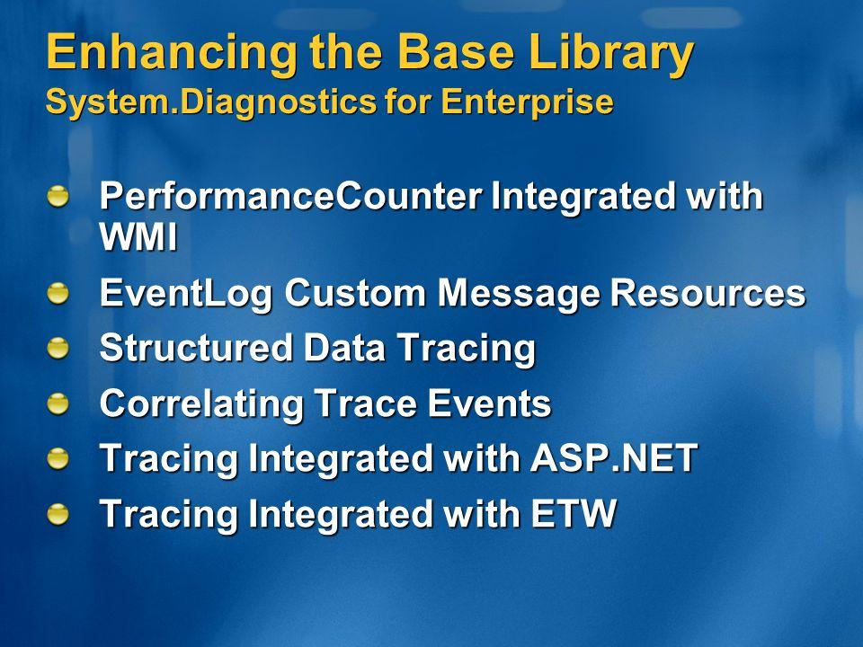 Enhancing the Base Library System.Diagnostics for Enterprise