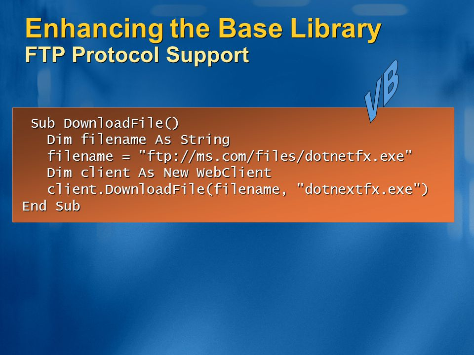 Enhancing the Base Library FTP Protocol Support
