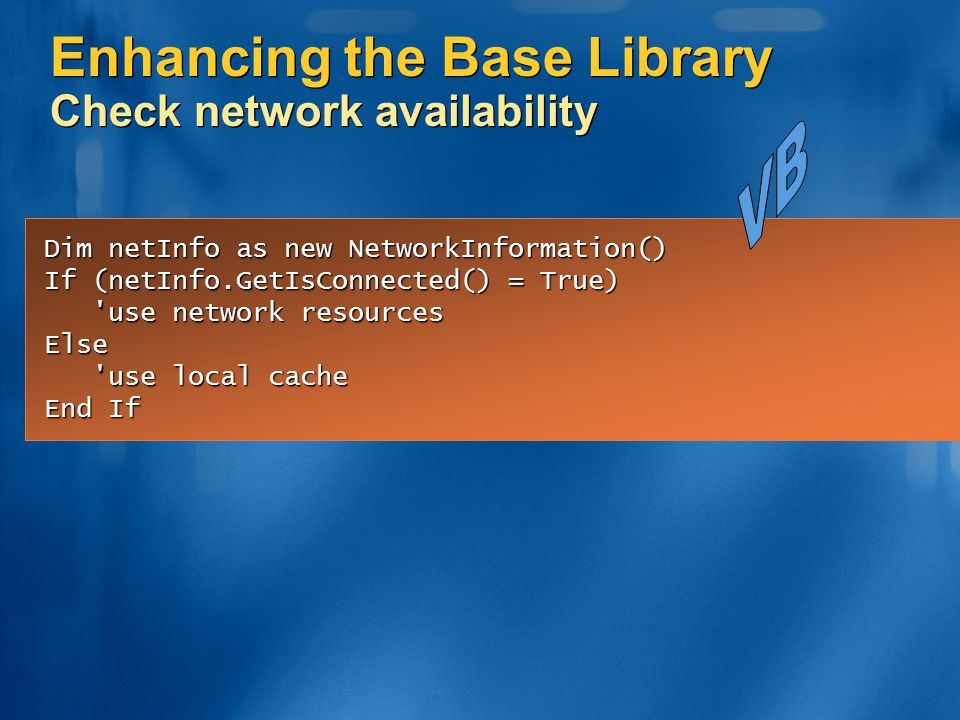 Enhancing the Base Library Check network availability