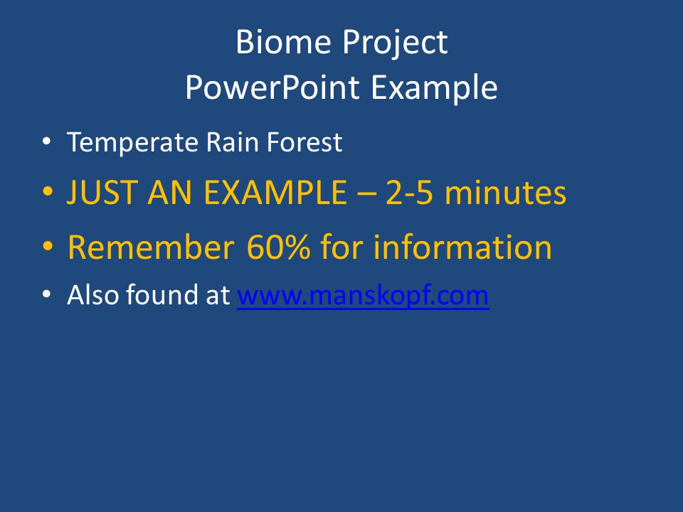 Biome Project PowerPoint Example