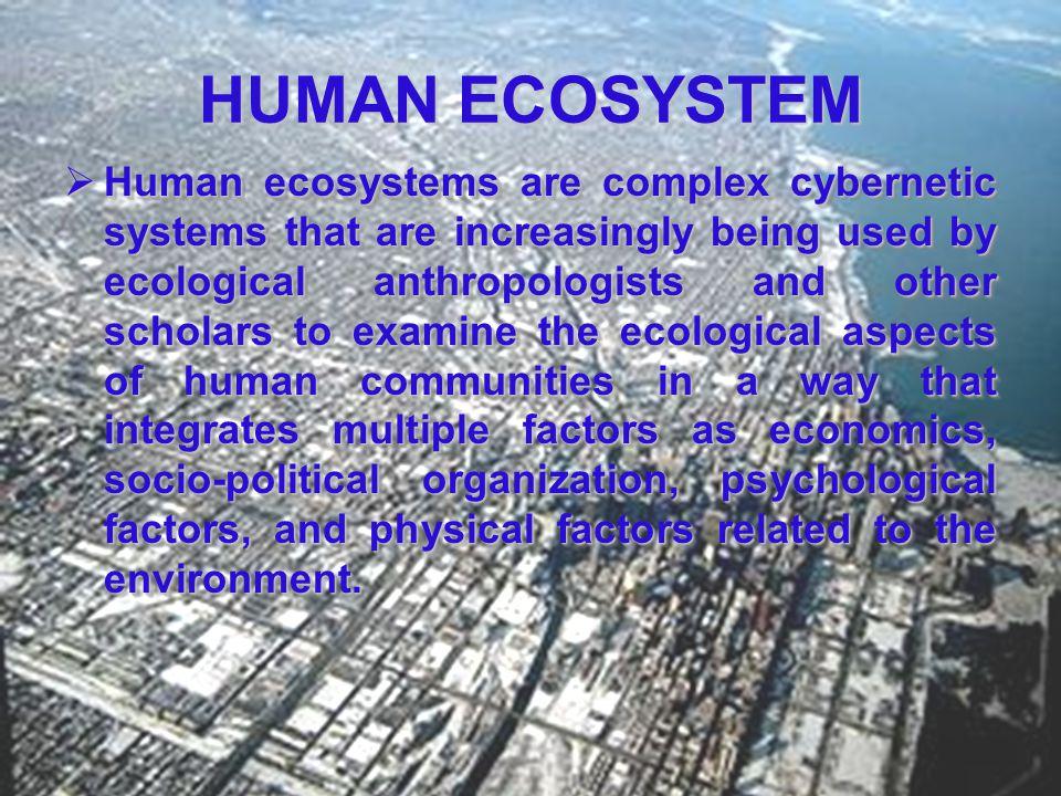 HUMAN ECOSYSTEM