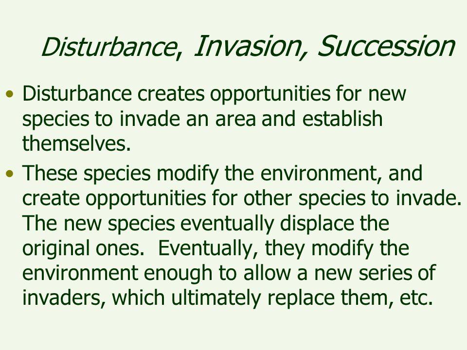 Disturbance, Invasion, Succession