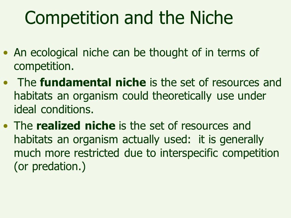 Competition and the Niche
