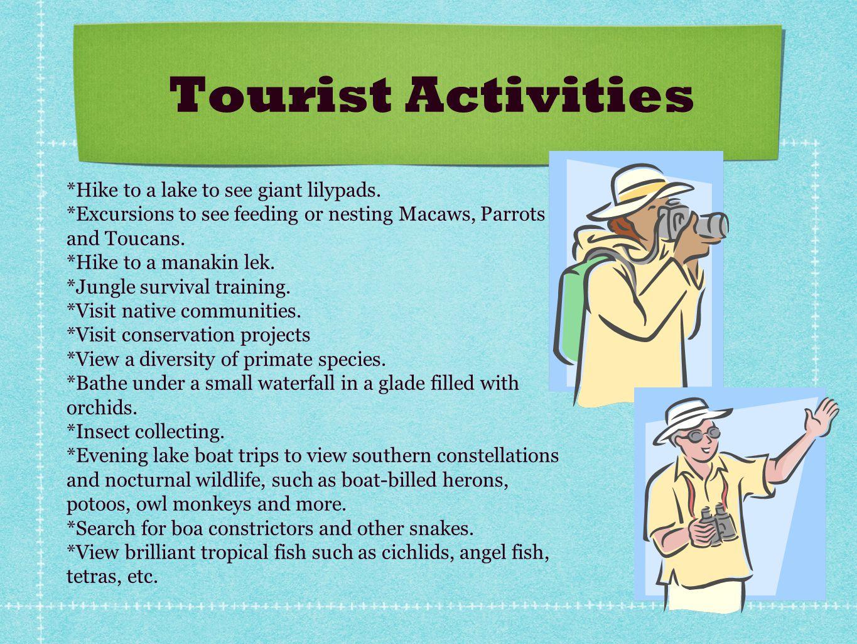 Tourist Activities