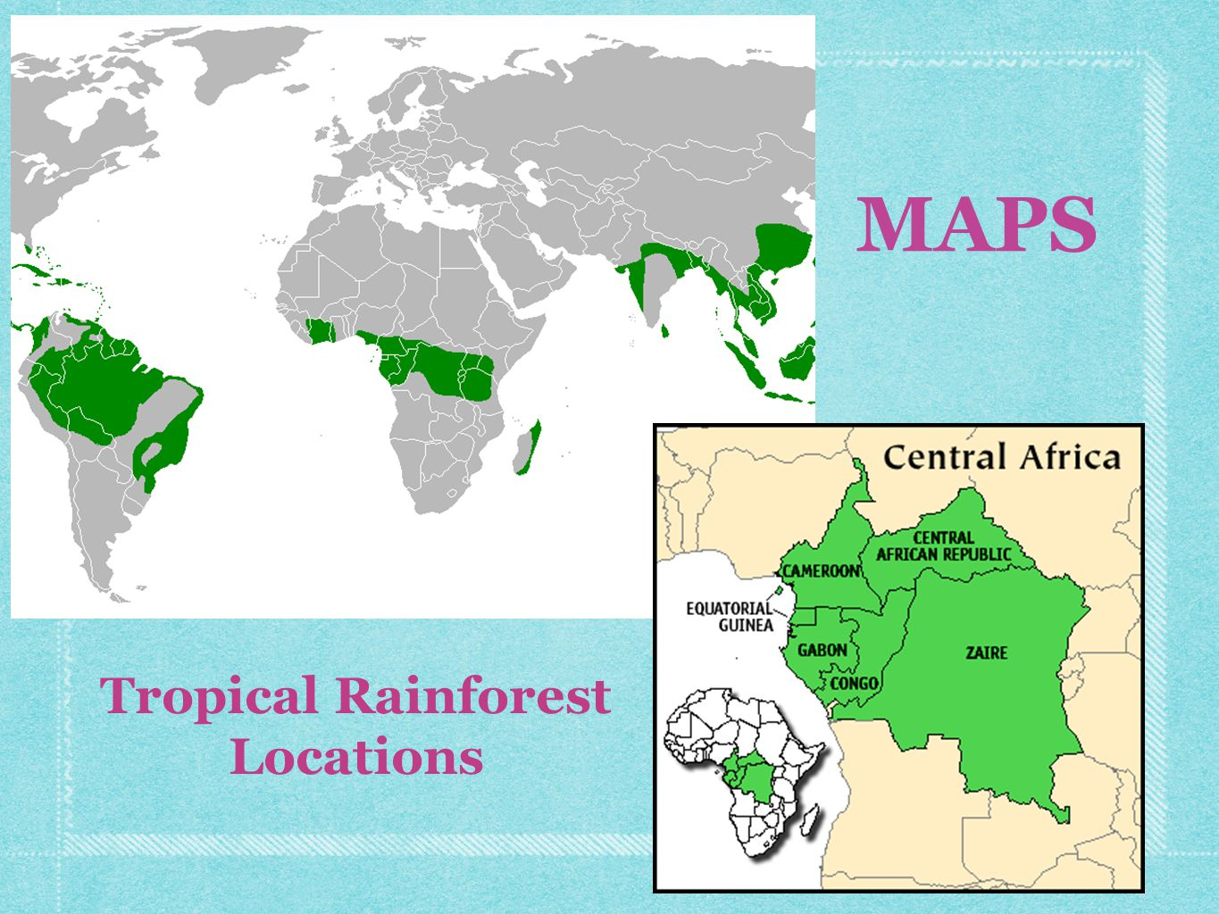 MAPS Tropical Rainforest Locations