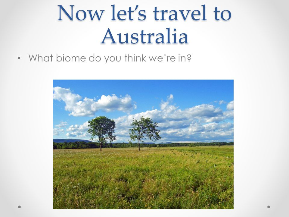 Now let's travel to Australia