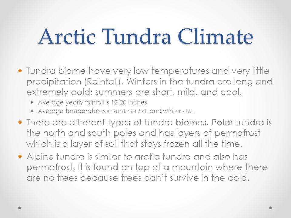 Arctic Tundra Climate