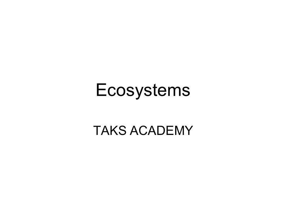 Ecosystems TAKS ACADEMY