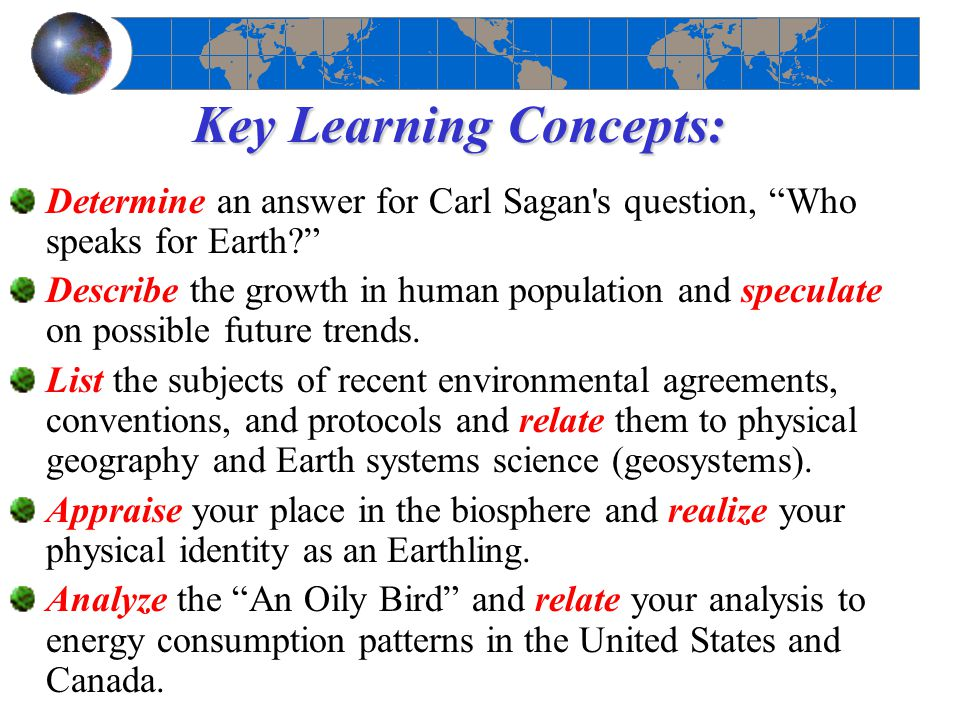 Key Learning Concepts: