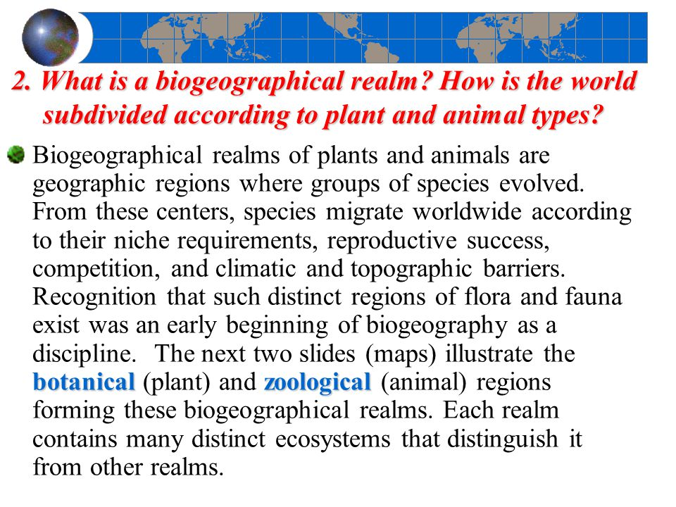 2. What is a biogeographical realm