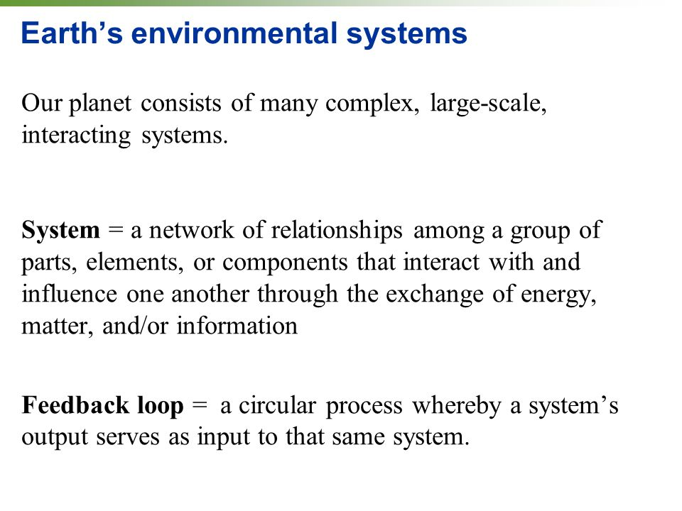 Earth's environmental systems