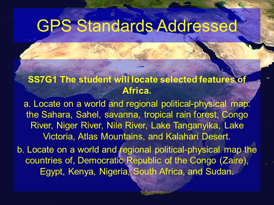 GPS Standards Addressed