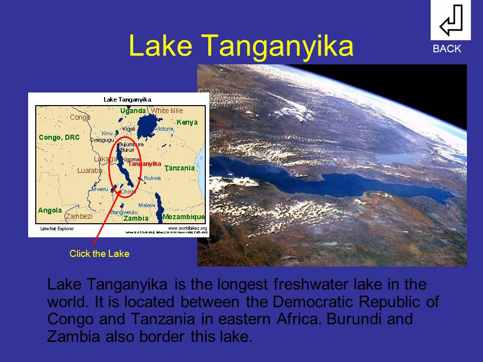 Lake Tanganyika BACK. Click the Lake.