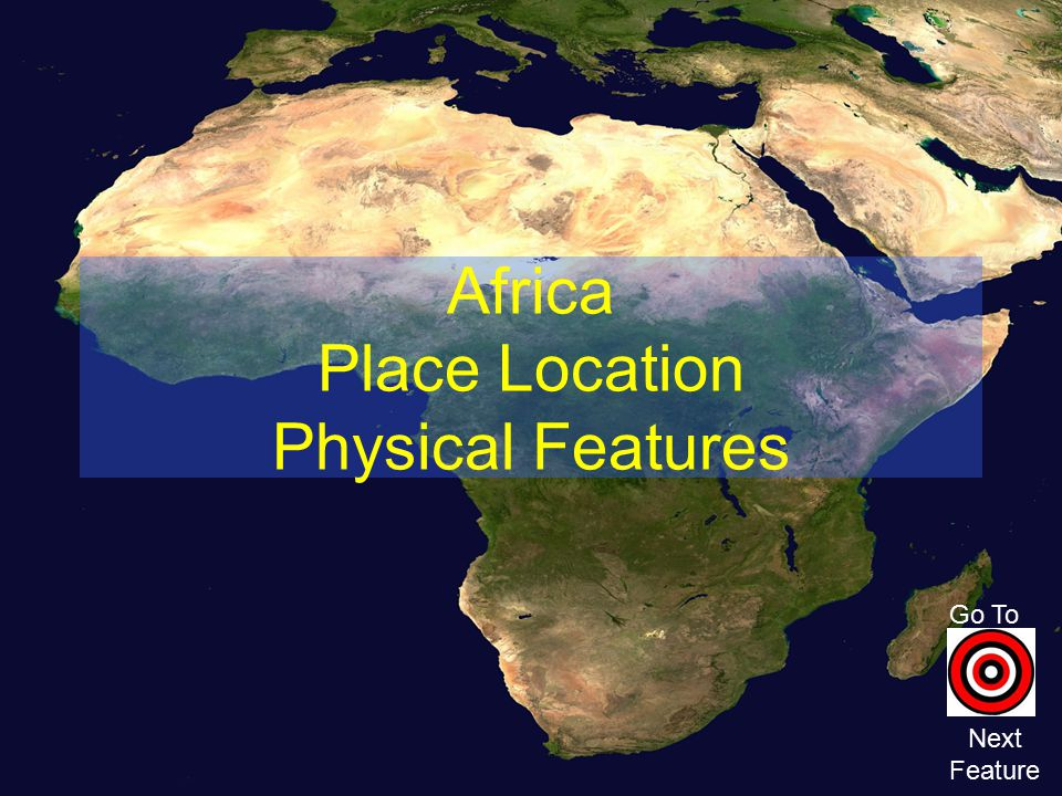 Africa Place Location Physical Features