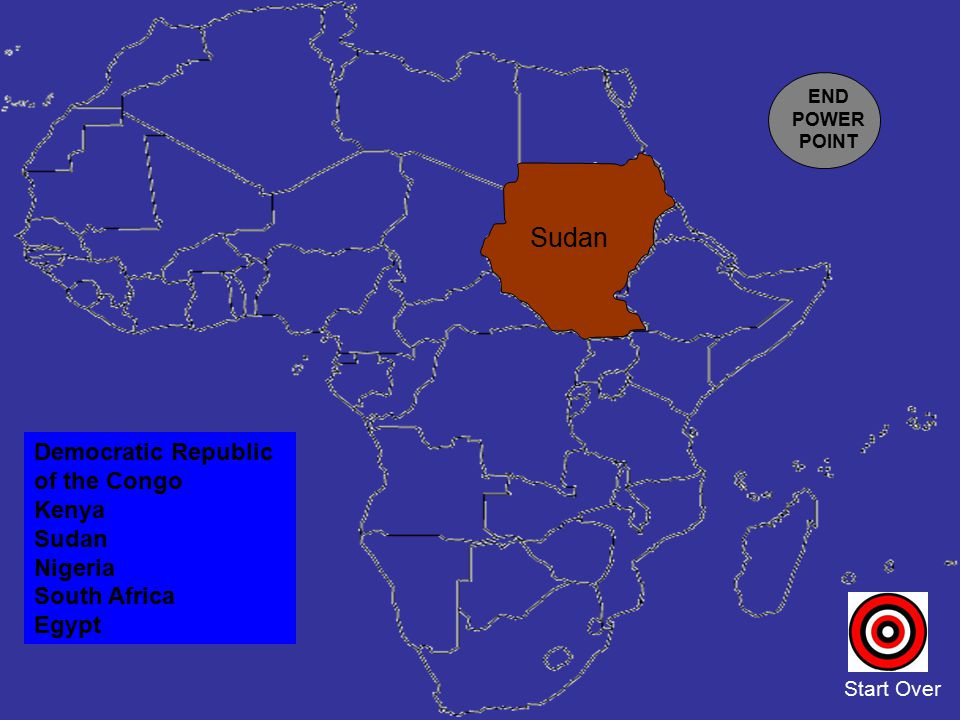 Sudan Democratic Republic of the Congo Kenya Sudan Nigeria