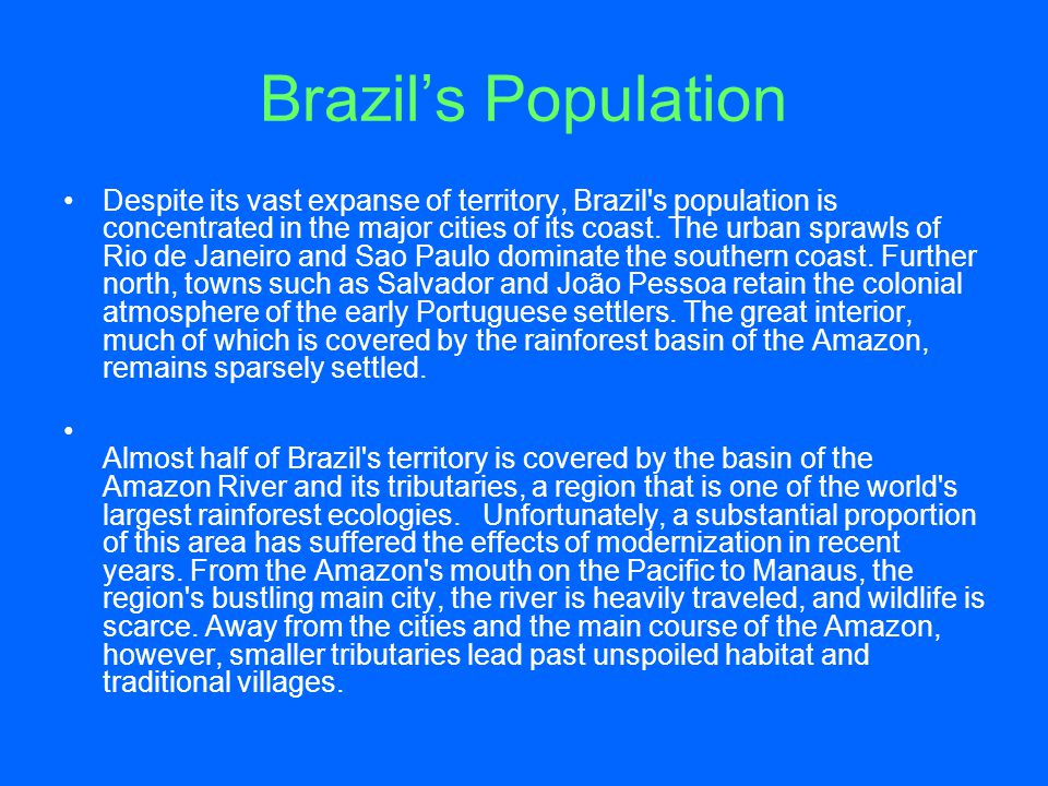 Brazil's Population